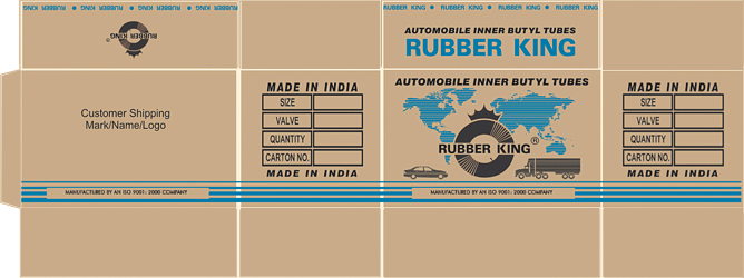 Rubber King Tyres Pvt. Ltd : Products : Butyl Tube : Packaging
